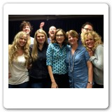 Heather and the cast with author Wendy MacLeod