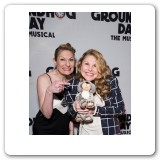 """Groundhog Day"" opening night with sister Becca"