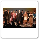 """Groundhog Day"" opening night curtain call"