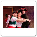Heather as Rosalinda with Jeff Gurner and John Bolton