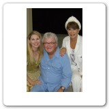 with writer Leslie Bricusse and his wife Evie